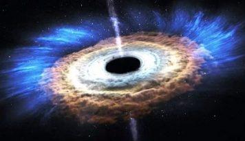 Извержение гигантской черной дыры